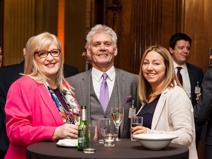 Joanne Casey, Alan Hunter and Linda McLean at the HBF Awards event