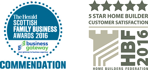 The Herald Scottish Family Business Awards 2016 Commendation - HBF 2016 5 Star Home Builder Customer Satisfaction