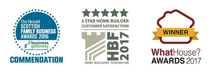 The Herald Scottish Family Business Awards 2016 Commendation - HBF 2016 5 Star Home Builder Customer Satisfaction - WhatHouse? Award Winner 2017